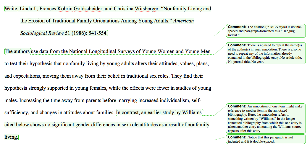 Annotated Bibliography Book Example Mla